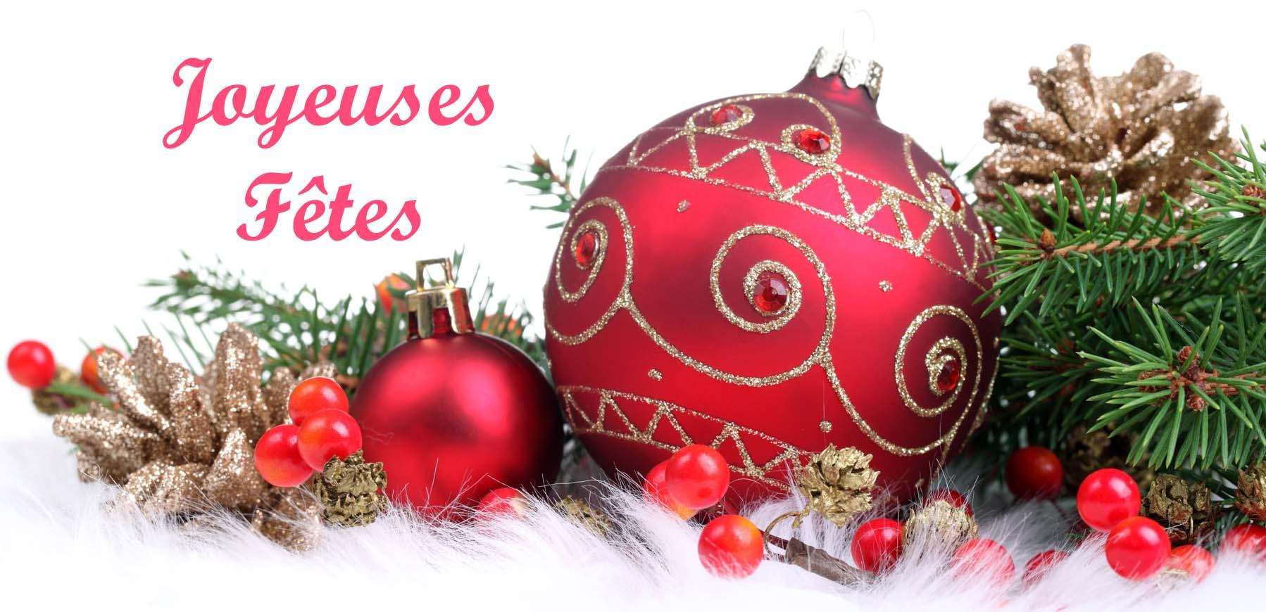 Joyeuses fêtes et merci!