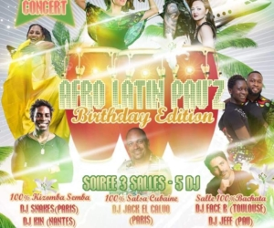 Afro Latin Pau'Z Birthday Edition – 2 mars – Workshops Repas Shows Concert Soirée