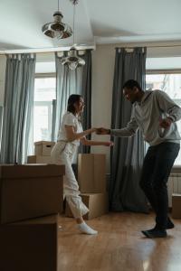 Danser dans à la maison